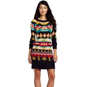 Jessica Simpson Sweater Dress Tribal Print